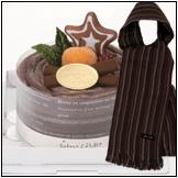 タオルマフラーで出来たデコレーションケーキ