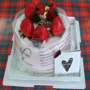 クリスマス限定!クリスマスイチゴデコレーションタオルケーキ♪