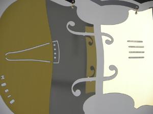 バイオリンのモビールミニサイズ